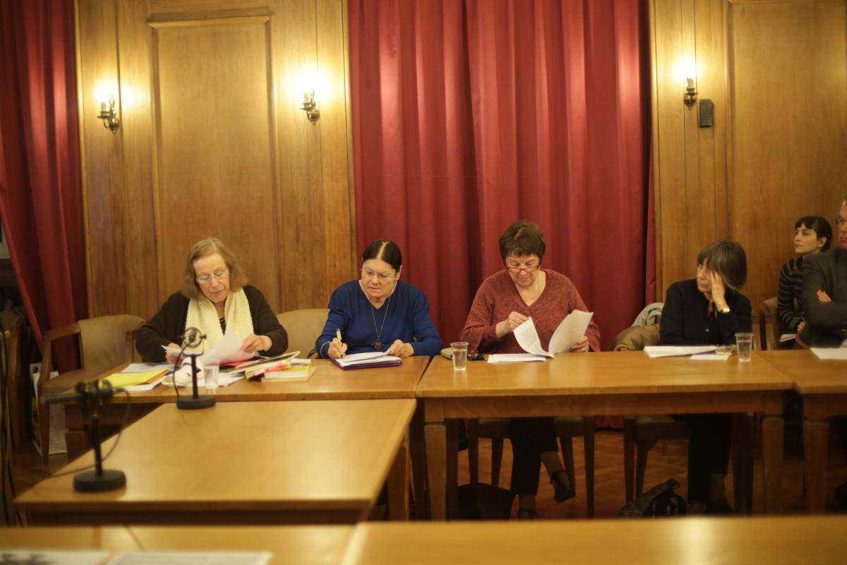 Monique Martineau-Hennebelle et Yvonne Mignot-Lefebvre lors de la séance. Credits Rachel Van de Meerssche