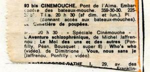 Coupure de presse (sans date, vers 1976) - Fonds Michel Jaffrennou / BnF
