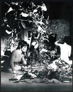 Itinérographie, environnement créé par Michel Jaffrennou en 1971 à la galerie Stadler à Paris - Fonds Michel Jaffrennou / BnF